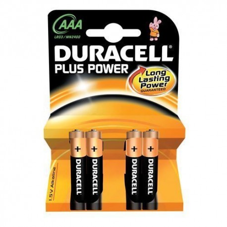 BATTERIE DURACELL POWER PLUS MINISTILO 1.5 V BLISTER PZ 4